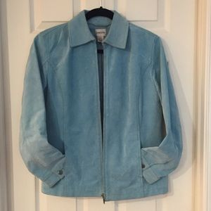 CLEARANCE! Chico's Turquoise Suede Jacket - Size S
